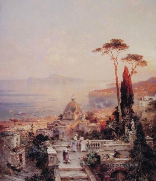 The View from the Balcony scenery Franz Richard Unterberger Oil Paintings