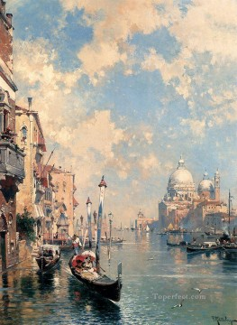 The Grand Canal Venice Franz Richard Unterberger Venice Oil Paintings