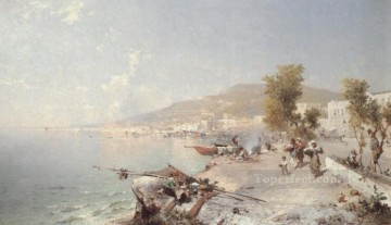 Vietri Sul Mare Looking Towards Salerno scenery Franz Richard Unterberger Oil Paintings