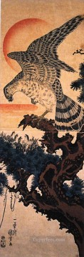 hawk Utagawa Kuniyoshi Ukiyo e Oil Paintings