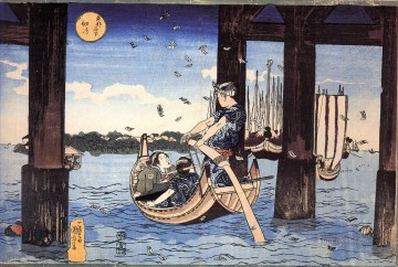 ferryman Utagawa Kuniyoshi Ukiyo e Oil Paintings