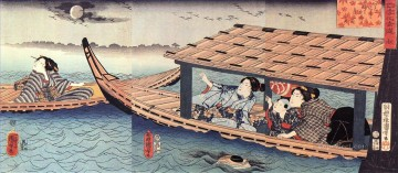 autumn Utagawa Kuniyoshi Ukiyo e Oil Paintings