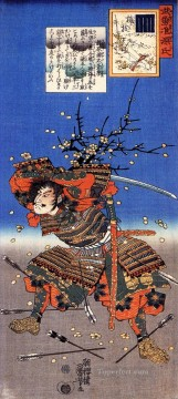 kajiwara genda kagesue for umegae Utagawa Kuniyoshi Ukiyo e Oil Paintings