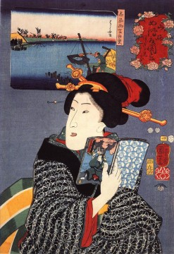 women 10 Utagawa Kuniyoshi Ukiyo e Oil Paintings