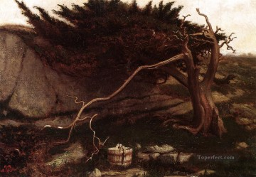 Symbolism Canvas - The Lonely Spring symbolism Elihu Vedder