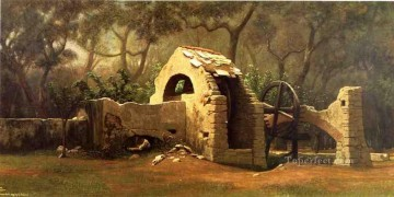 Symbolism Canvas - The Old Well Bordighera symbolism Elihu Vedder