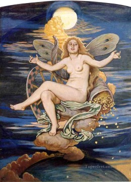 Fortuna nude Elihu Vedder Oil Paintings