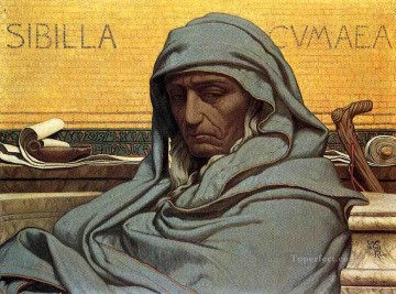 Sibilia Cumaea symbolism Elihu Vedder Oil Paintings