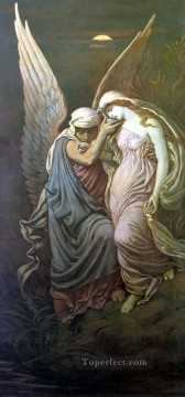 symbolism Painting - The Cup of Death symbolism Elihu Vedder