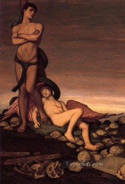 symbolism Painting - The Last Man symbolism Elihu Vedder