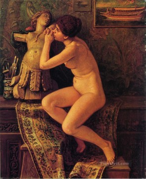 The Venetian Model nude Elihu Vedder Oil Paintings