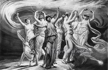 Symbolism Canvas - The Pleiades symbolism Elihu Vedder