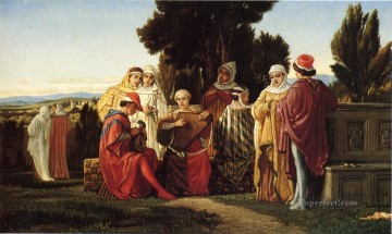 symbolism Painting - The Music Party symbolism Elihu Vedder