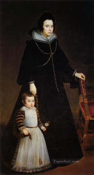 Dona Antonia de Ipenarrieta y Galdos with Her Son portrait Diego Velazquez Oil Paintings