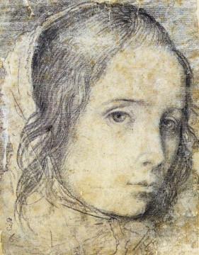 Diego Velazquez Painting - Head Of A Girl Diego Velozquez