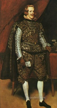 Silver Canvas - Philip IV in Brown and Silver portrait Diego Velazquez