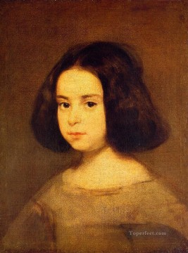 Diego Velazquez Painting - Portrait of a Little Girl Diego Velozquez