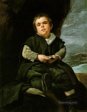 The Dwarf Francisco Lezcano portrait Diego Velazquez Oil Paintings