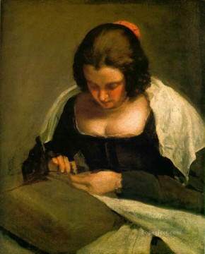 Diego Velazquez Painting - The needlewoman Diego Velozquez