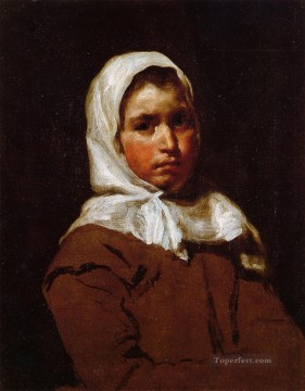Young Peasant Girl portrait Diego Velazquez Oil Paintings
