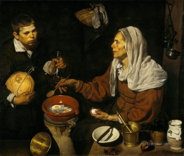 Diego Velazquez Painting - Old Woman Poaching Eggs Diego Velozquez