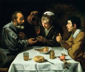 Diego Velazquez Painting - Peasants at the table Diego Velozquez