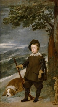Prince Baltasar Carlos as Hunter portrait Diego Velazquez Oil Paintings