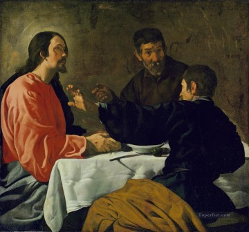 Diego Velazquez Painting - Supper at Emmaus Diego Velozquez