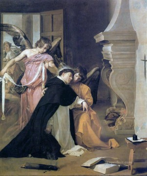Diego Velazquez Painting - The Temptation of St Thomas Aquinas Diego Velozquez