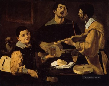 musical Painting - Three Musicians aka Musical Trio Diego Velazquez