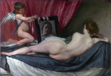 Venus at her Mirror Diego Velazquez Oil Paintings