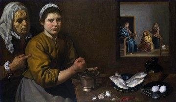 Diego Velazquez Painting - Christ in the House of Mary and Marthe Diego Velozquez