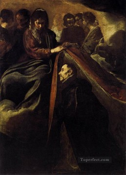 Diego Velazquez Painting - St Ildefonso Receiving The Chasuble From The Virgin Diego Velozquez