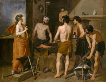 Diego Velazquez Painting - The forge of Vulcan Diego Velozquez