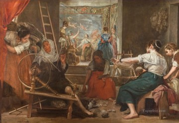 Diego Velazquez Painting - The Fable of Archne aka The Spinners Diego Velozquez