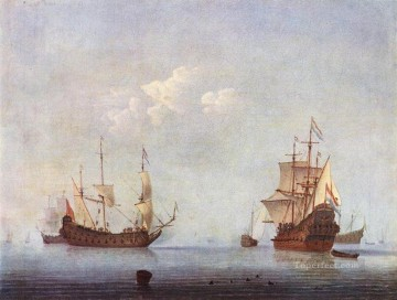 Willem van de Velde the Younger Painting - Marine Landscape marine Willem van de Velde the Younger