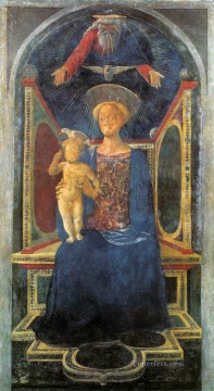 dome Art - DOMENICO Veneziano Madonna and Child 1435 Renaissance Domenico Veneziano