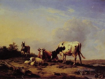 GATHERING Art - A Gathering in the Asture Eugene Verboeckhoven animal cattle