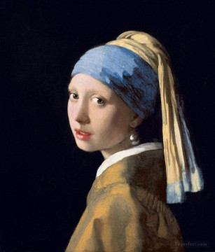 Johannes Oil Painting - Girl with a Pearl Earring Baroque Johannes Vermeer