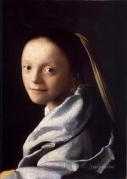 Study of a Young Woman Baroque Johannes Vermeer Oil Paintings