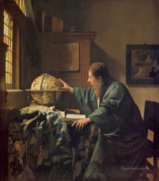 The Astronomer Baroque Johannes Vermeer Oil Paintings
