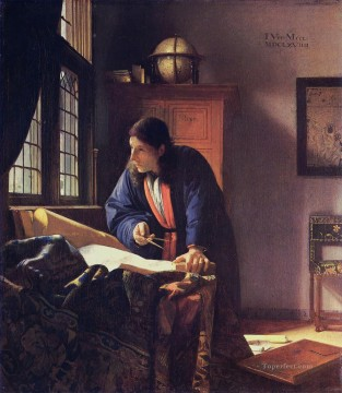 The Geographer Baroque Johannes Vermeer Oil Paintings