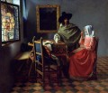 The Glass Of Wine Baroque Johannes Vermeer