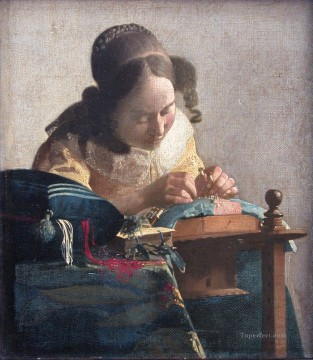 The Lacemaker Baroque Johannes Vermeer Oil Paintings