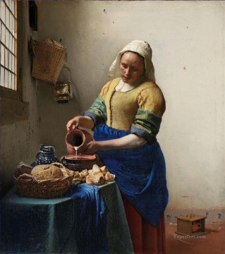 The Milkmaid Baroque Johannes Vermeer Oil Paintings