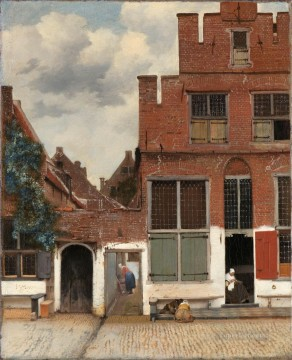Tree Painting - View of Houses in Delft known as The Little Street Baroque Johannes Vermeer