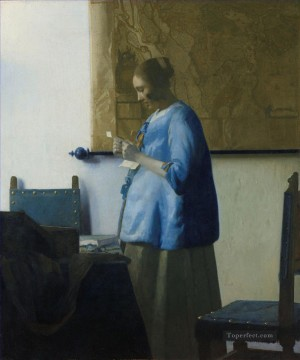 Woman Reading a Letter Baroque Johannes Vermeer Oil Paintings