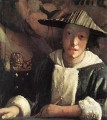Young Girl with a Flute Baroque Johannes Vermeer