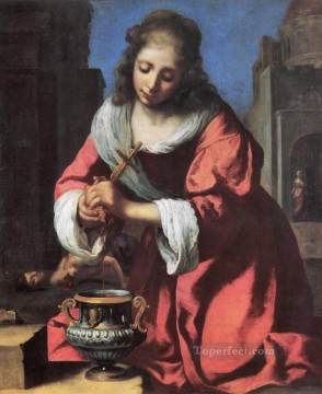 Saint Praxidis Baroque Johannes Vermeer Oil Paintings