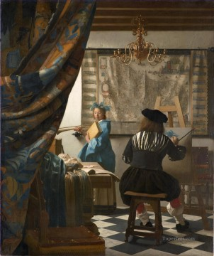 painting Oil Painting - The Art of Painting Baroque Johannes Vermeer